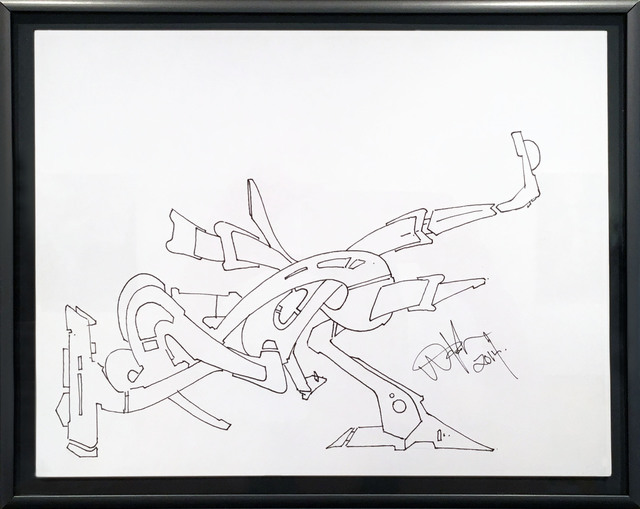 , 'Line Drawing 3,' 2014, BoxHeart