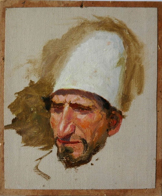 , 'Head of Jew in Tall White Hat,' 1884, Vassily Polenov Fine Arts Museum and National Park
