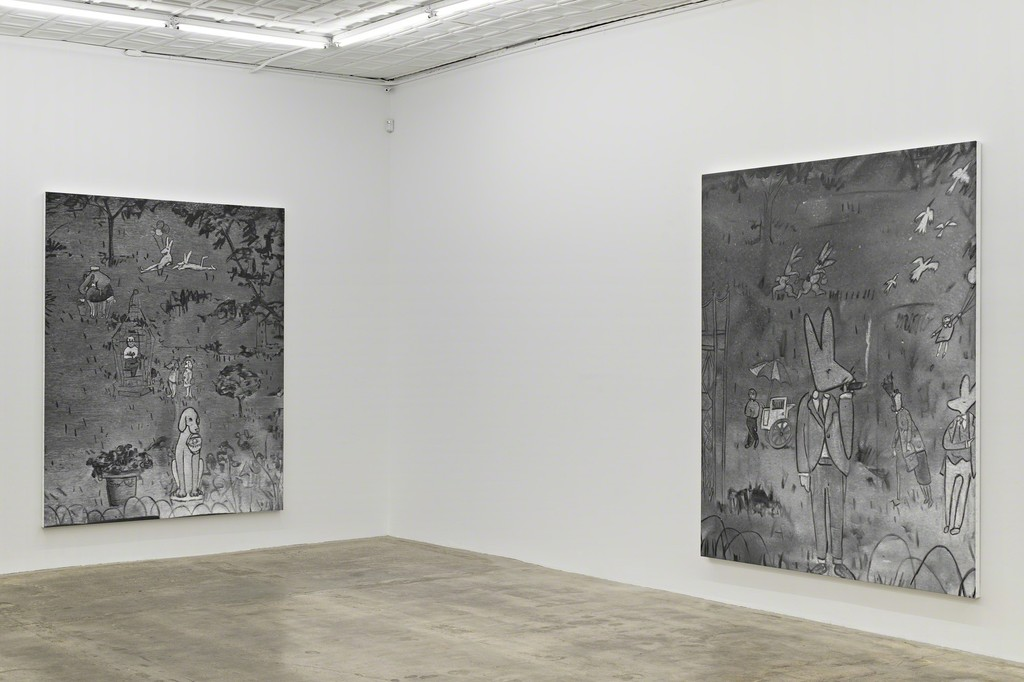 """Rudolf Stingel: Part VII,"" Installation view. © Rudolf Stingel. Courtesy of the artist."