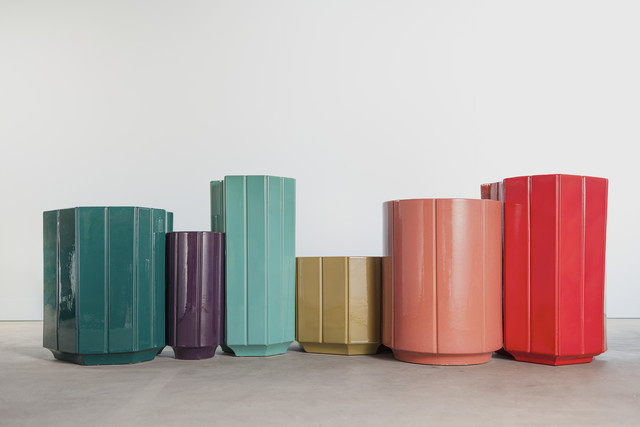 , 'Landscapes Vases series 2 (S2) SET OF 6, in limited edition of 6 colours - canard blue, chartreuse, aubergine, rose, turquoise, rouge.,' 2013, Carwan Gallery