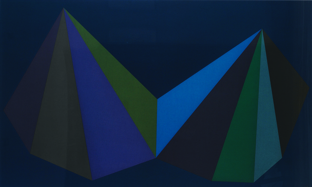 , 'Two Asymmetrical Pyramids: Plate 3,' 1986, Sims Reed Gallery