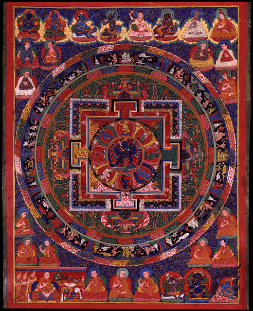 , 'Hevajra Mandala,' 18th century, Rubin Museum of Art