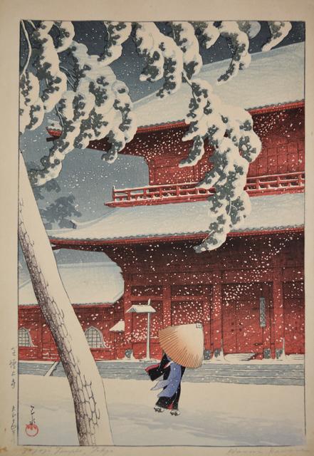 , 'Shiba Zojo Temple in Snow,' 1925, Ronin Gallery