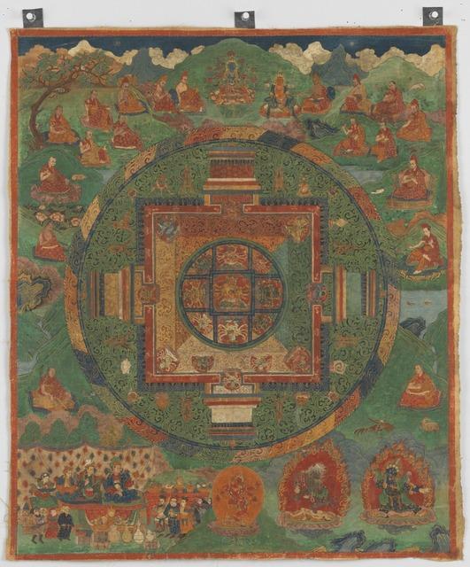 , 'Guhyasamaja Manjuvajra Mandala,' 16th century, Rubin Museum of Art