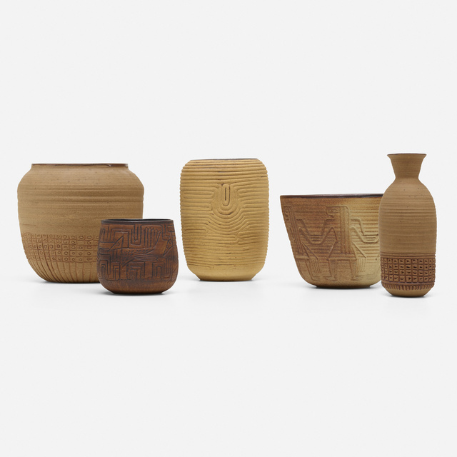 Charles Loloma, 'collection of five vessels', c. 1954, Wright