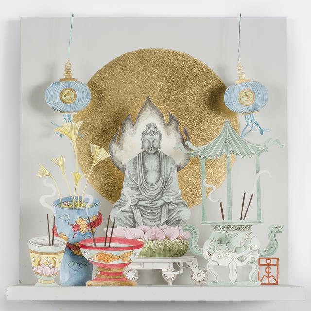 , 'Buddha with Blue Lamps,' 2019, Beatriz Esguerra Art