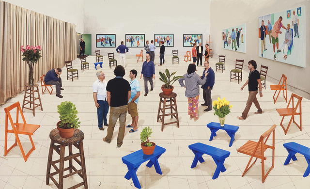 , '4 blue stools,' 2014, National Gallery of Victoria