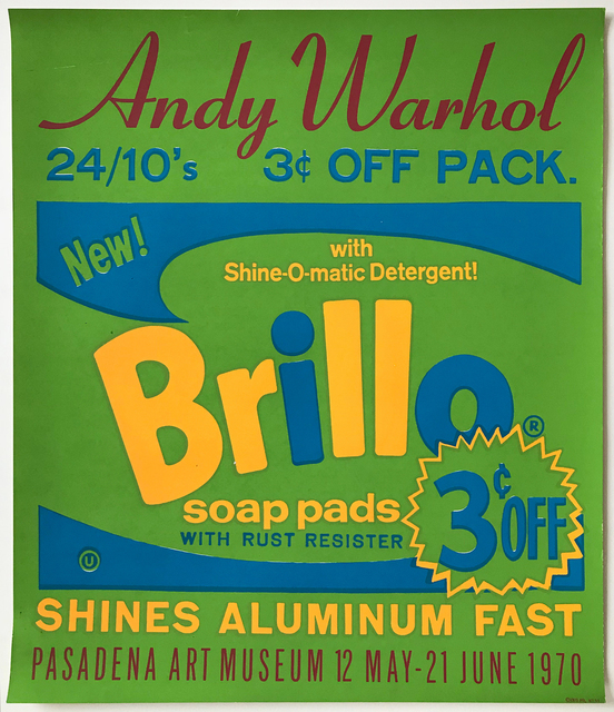 Andy Warhol, 'Brillo Poster for the Pasadena Art Museum', 1970, MLTPL