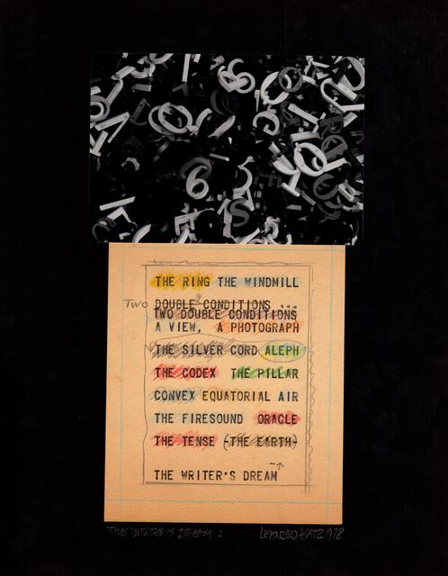 Leandro Katz, 'The Writer's Dream (Note)', 1970, Henrique Faria Fine Art