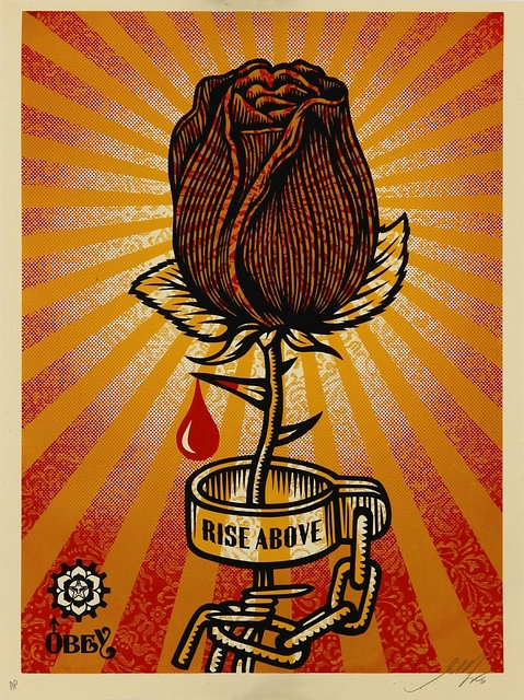 Shepard Fairey, 'Rose Shackle', 2006, Addicted Art Gallery