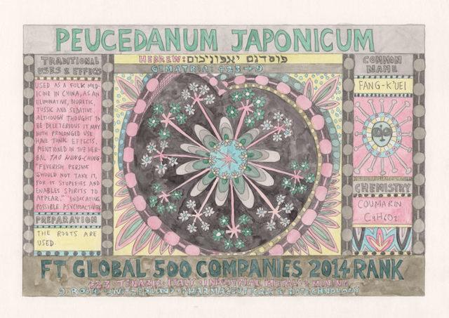 , 'HFT The Gardener/Outsider artworks/Peucedanum japonicum (Fang-K'uei),' 2015, P.P.O.W
