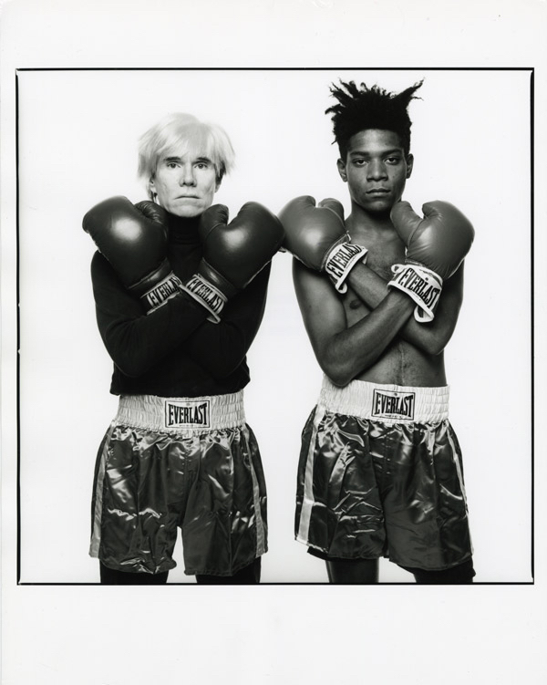 MICHAEL HALSBAND Andy Warhol & Jean-Michel Basquiat #143 New York City, July 10, 1985