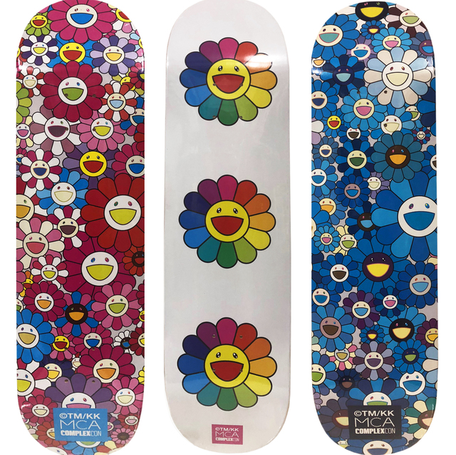 Takashi Murakami, 'Takashi Murakami Flowers Skateboard Decks (complete set of 3) ', 2017, Lot 180