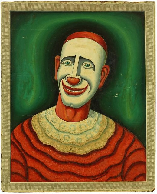 Maurice Kish, 'Clown,  Early 20th Century Playful Oil Painting on Board', Early 20th Century, Lions Gallery