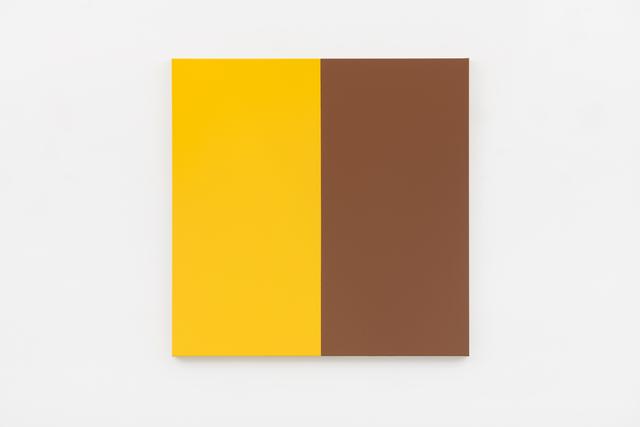 Steven Aalders, 'Two Halves (Yellow, Brown)', 2018, Walter Storms Galerie