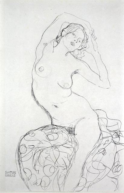 Gustav Klimt, 'Seated Nude [Fünfundzwanzig Handzeichnungen]', 1919, Jason Jacques Gallery
