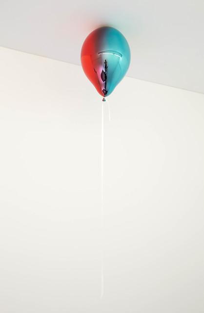 , 'Dark Red and Light Turquoise Mirror Balloon (vertical),' 2019, Galleri Nicolai Wallner