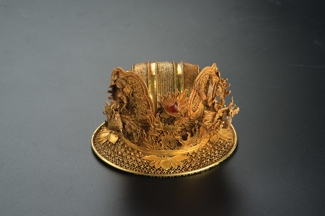 , 'Leisi Filigree Bun—Net with Two Dragons,' Ming dynasty (1368–1644), Art Museum of the Chinese University of Hong Kong
