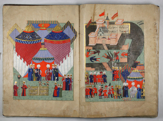 , 'History of Sultan Sulayman, Fall of Szigetvar Bound manuscript,' 1579, Centre for Fine Arts (BOZAR)