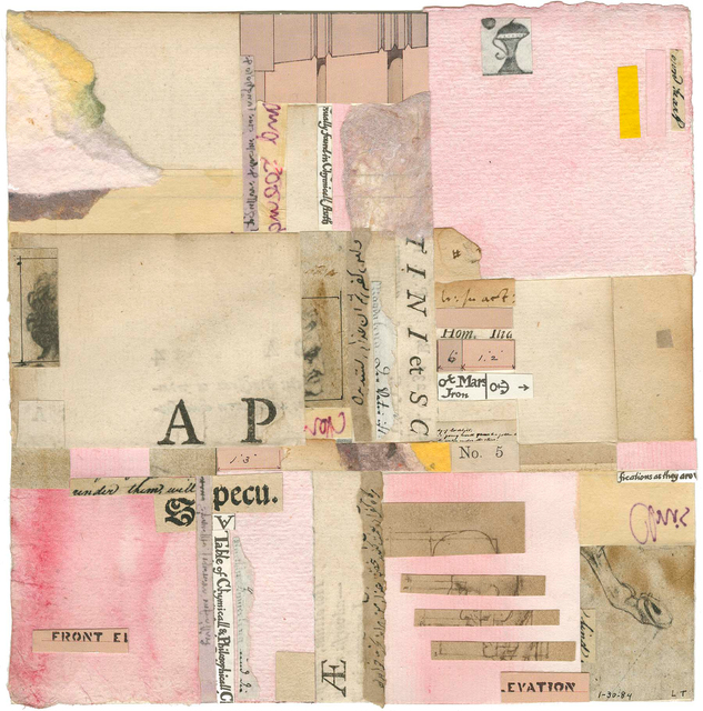 Lenore Tawney, 'Untitled', 1984, Drawing, Collage or other Work on Paper, Mixed media collage of various papers, watercolor and ink on paper, Michael Rosenfeld Gallery