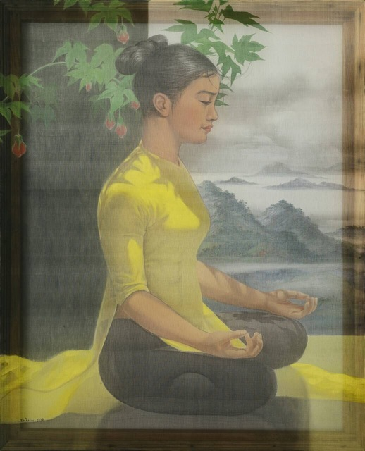 , 'A Girl is doing Yoga,' 2017, Art Vietnam Gallery