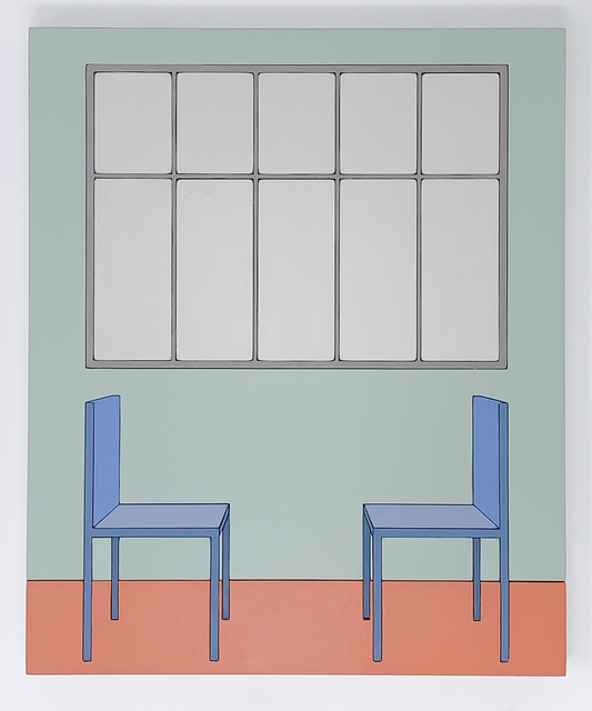 Zsofia Schweger, 'Form Becoming Feeling #2 (Two Chairs), after Frank Lloyd Wright engagement with Froebel's Kindergarten ', 2019, Sapar Contemporary