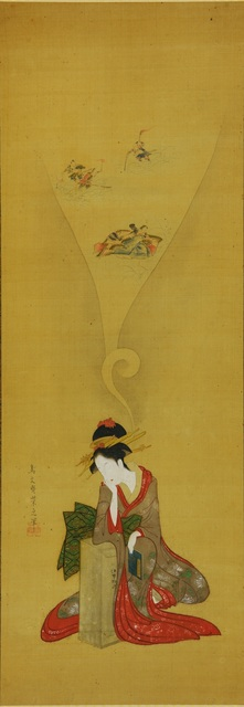 , 'Young woman dreaming of Ise Monogatari,' ca. early 19th Century, British Museum