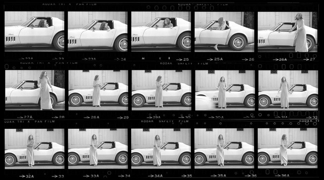 Julian Wasser, 'Joan Didion, Hollywood, 1968 (Contact Sheet 1)', 1968, Danziger Gallery