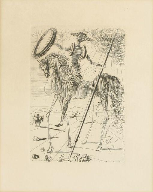 Salvador Dalí, 'DON QUIXOTE', 1966, Print, Etching, Sworders
