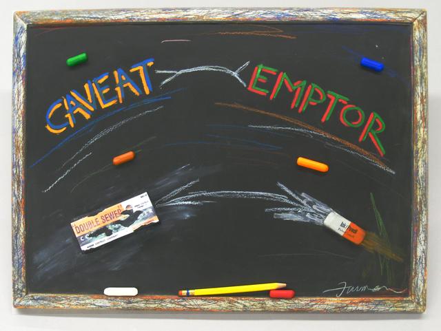 , 'caveat emptor,' 2017, Lois Lambert Gallery
