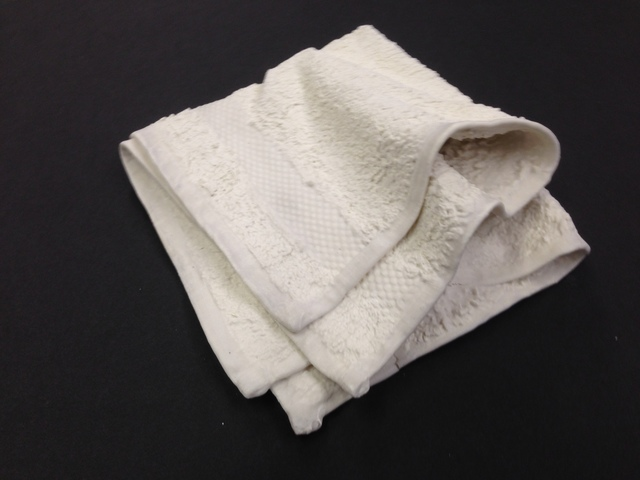 , 'Loose folded washcloth,' 2014, Anne Mosseri-Marlio Galerie