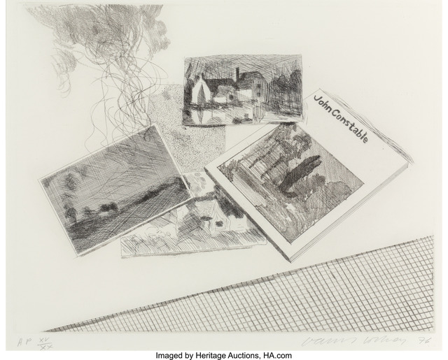 David Hockney, 'For John Constable', 1976, Print, Etching on Crisbrook handmade paper, Heritage Auctions