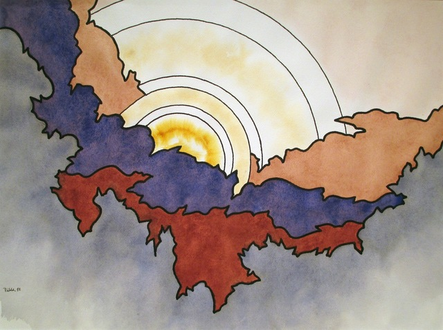 , 'Clouded Sun,' 1988, Caldwell Gallery Hudson