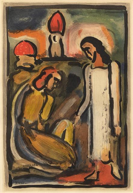Georges Rouault, 'Christ et Sainte Femme from Passion', 1936, Hindman