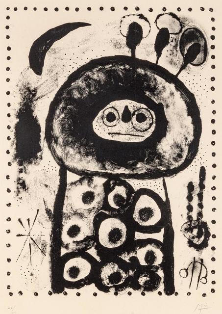 Joan Miró, 'Diane d'Epese', 1958, Hindman