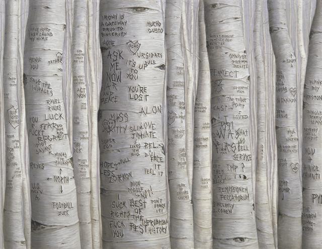 , 'Aspen Trees (You're Lost),' 2014, Petzel Gallery