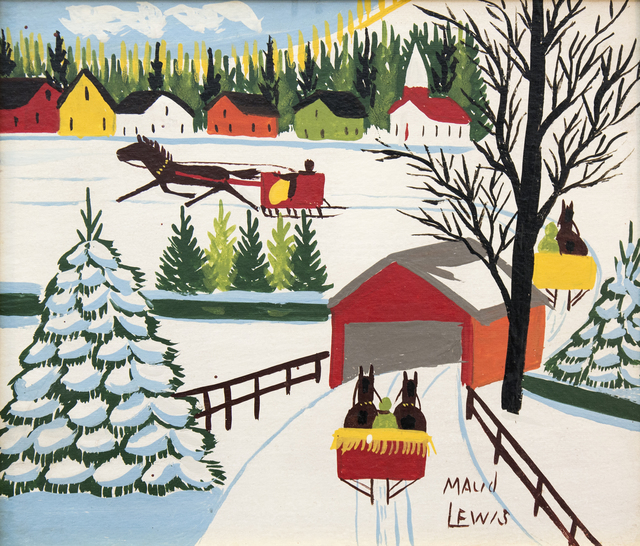 Maud Lewis, 'Covered Bridge', Oeno Gallery