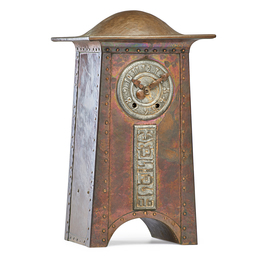 "Large mantle clock, ""Tempus Fugit"""