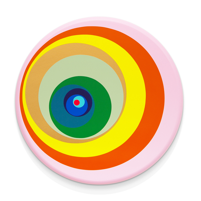 Paul Henry Ramirez, 'Paint Pour 4', 2015, Painting, Acrylic on convex canvas, RYAN LEE