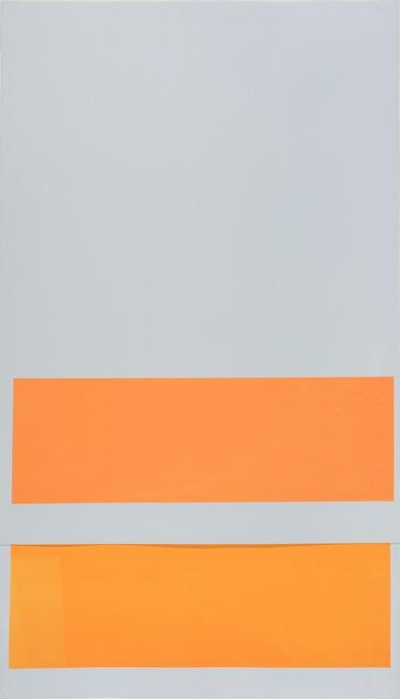 Elodie Seguin, 'Séance rectangle unité de base_dyptique orange orange sur bleu', 2012, Galerie Jocelyn Wolff