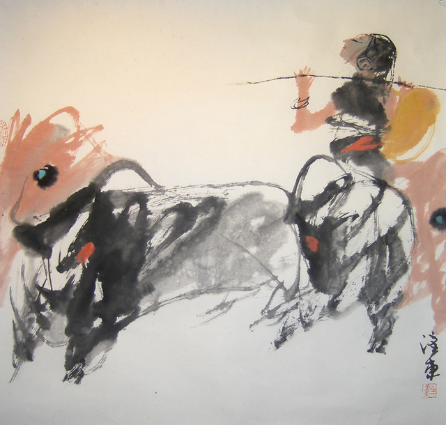 Quan Handong, '#9 Mountain Oxen Series ', 2007, Drawing, Collage or other Work on Paper, Ink on Paper, Eisenhauer Gallery