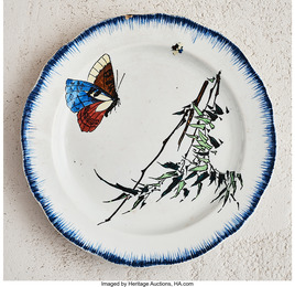 Butterfly Plate from the Rousseau Service