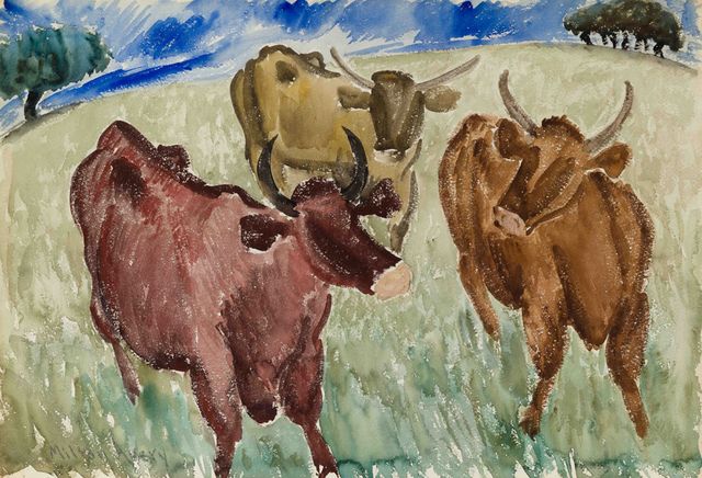 Milton Avery, 'Untitled (Three Cows)', ca. 1930, Yares Art