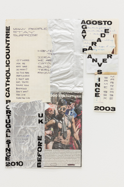 "Carla Filipe, '""Comer papel mastigado - o desejo de compreender o velho continente para cuspir a sua história / Eating chewed paper - the desire to understand the old continent to spit its story"" Untitled 09', 2014, Múrias Centeno"