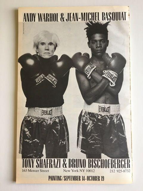Andy Warhol, 'BASQUIAT WARHOL 1985 EXHIBITION POSTER (WHITE VERSION)', Dope! Gallery