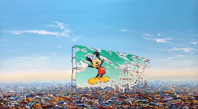 Jeff Gillette, 'Mickey Billboard Plastic Landfill', 2019, Addicted Art Gallery