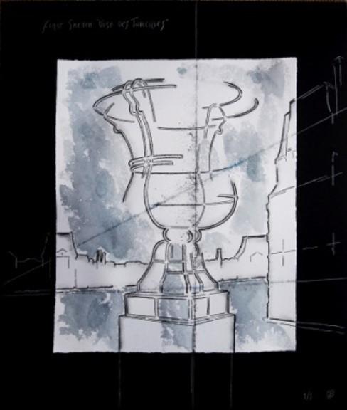 Juan Garaizabal, 'First Sketch Vases des Tuileries IV Paris', 2014, Painting, Drawing and gouache on Monotype, Bogena Galerie