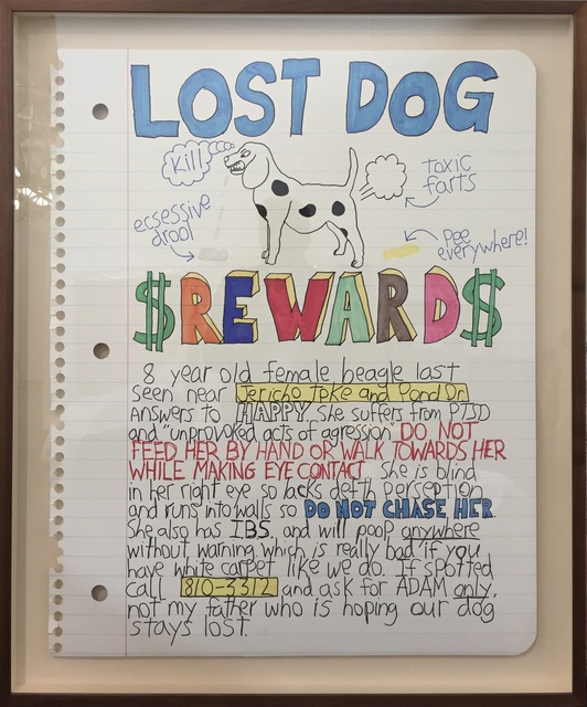 , 'Lost Dog Reward,' 2016, Art Unified Gallery