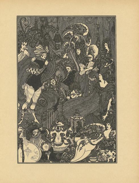 "Aubrey Beardsley, '""The Cave of Spleen"" printed in The Rape of Lock, by Alexander Pope', ca. 1896, Print, Book page, Heroes Gallery"