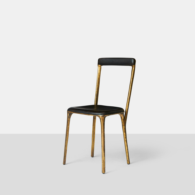 , 'Charred Oak & Brass Side Chair,' 2015, Almond & Co.